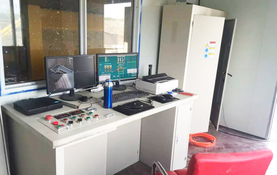 Computerized automatic mixing station control system of HZS120 station in Changzhou City, Jiangsu Province